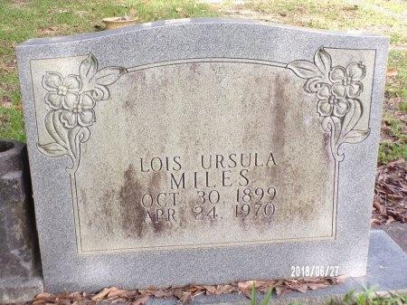 MILES, LOIS URSULA - St. Tammany County, Louisiana | LOIS URSULA MILES - Louisiana Gravestone Photos