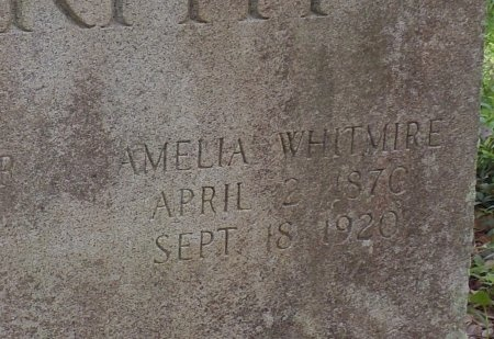 WHITMIRE MURPHY, AMELIA (CLOSE UP) - St. Tammany County, Louisiana   AMELIA (CLOSE UP) WHITMIRE MURPHY - Louisiana Gravestone Photos