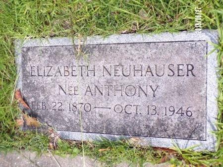 NEUHAUSER, ELIZABETH - St. Tammany County, Louisiana   ELIZABETH NEUHAUSER - Louisiana Gravestone Photos