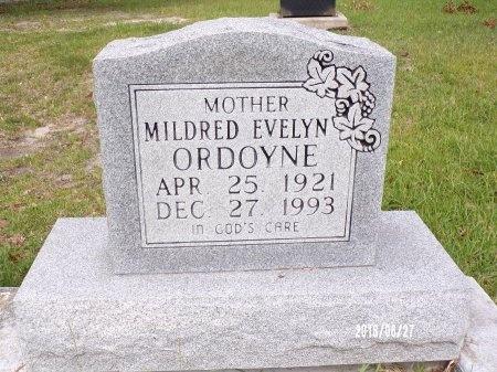 ORDOYNE, MILDRED EVELYN - St. Tammany County, Louisiana | MILDRED EVELYN ORDOYNE - Louisiana Gravestone Photos