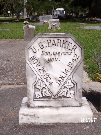 PARKER, ULYSSES G - St. Tammany County, Louisiana | ULYSSES G PARKER - Louisiana Gravestone Photos