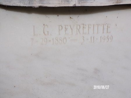 PEYREFITTE, LOUIS GREGORY - St. Tammany County, Louisiana | LOUIS GREGORY PEYREFITTE - Louisiana Gravestone Photos