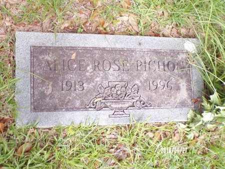 PICHON, ALICE ROSE - St. Tammany County, Louisiana | ALICE ROSE PICHON - Louisiana Gravestone Photos