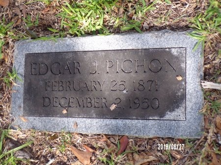 PICHON, EDGAR J - St. Tammany County, Louisiana | EDGAR J PICHON - Louisiana Gravestone Photos