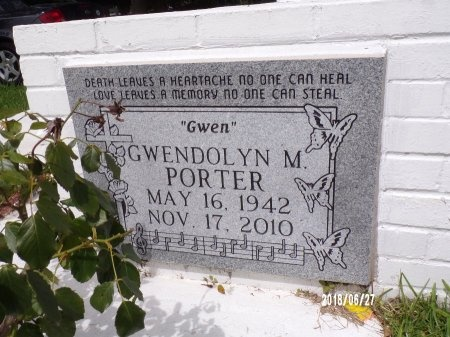 """PORTER, GWENDOLYN M """"GWEN"""" - St. Tammany County, Louisiana   GWENDOLYN M """"GWEN"""" PORTER - Louisiana Gravestone Photos"""