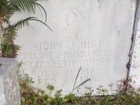 RIST, JOHN J - St. Tammany County, Louisiana   JOHN J RIST - Louisiana Gravestone Photos
