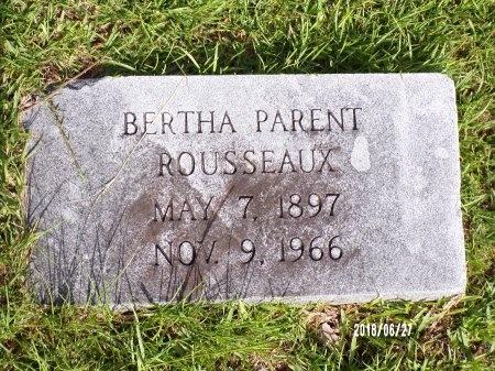 ROUSSEAUX, BERTHA - St. Tammany County, Louisiana   BERTHA ROUSSEAUX - Louisiana Gravestone Photos