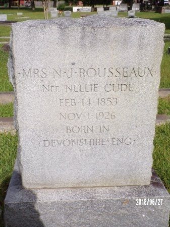 CUDE ROUSSEAUX, NELLIE - St. Tammany County, Louisiana | NELLIE CUDE ROUSSEAUX - Louisiana Gravestone Photos