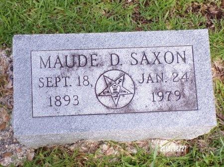 SAXON, MAUDE D - St. Tammany County, Louisiana | MAUDE D SAXON - Louisiana Gravestone Photos