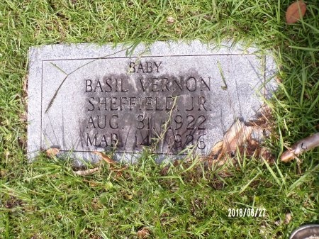 SHEFFIELD, BASIL VERNON, JR - St. Tammany County, Louisiana | BASIL VERNON, JR SHEFFIELD - Louisiana Gravestone Photos