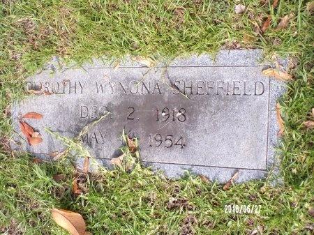 SHEFFIELD, DOROTHY WYNONA - St. Tammany County, Louisiana | DOROTHY WYNONA SHEFFIELD - Louisiana Gravestone Photos