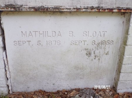 BENDER SLOAT, MATHILDA - St. Tammany County, Louisiana | MATHILDA BENDER SLOAT - Louisiana Gravestone Photos