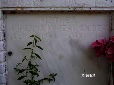 MCKEAN SNIDER, ADRENNA (CLOSE UP) - St. Tammany County, Louisiana | ADRENNA (CLOSE UP) MCKEAN SNIDER - Louisiana Gravestone Photos