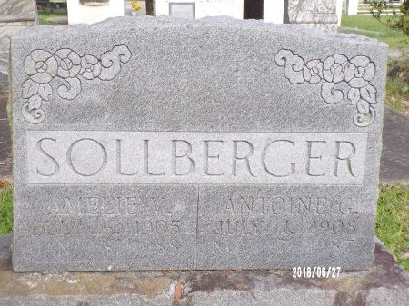 SOLLBERGER, AMELIE V - St. Tammany County, Louisiana | AMELIE V SOLLBERGER - Louisiana Gravestone Photos