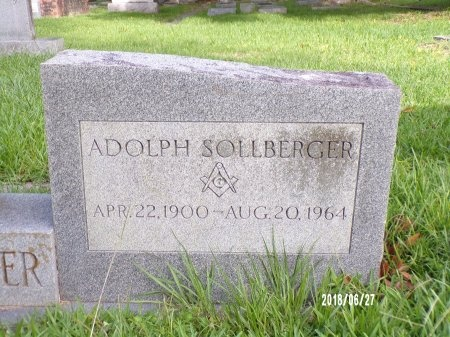SOLLBERGER, ADOLPH (CLOSE UP) - St. Tammany County, Louisiana | ADOLPH (CLOSE UP) SOLLBERGER - Louisiana Gravestone Photos
