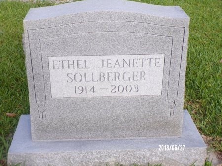 SOLLBERGER, ETHEL JEANETTE - St. Tammany County, Louisiana | ETHEL JEANETTE SOLLBERGER - Louisiana Gravestone Photos