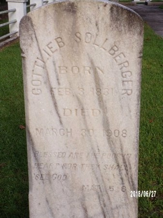 SOLLBERGER, GOTTLIEB - St. Tammany County, Louisiana | GOTTLIEB SOLLBERGER - Louisiana Gravestone Photos