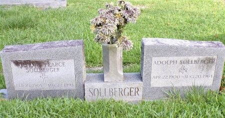 PEARCE SOLLBERGER, GLADYS - St. Tammany County, Louisiana | GLADYS PEARCE SOLLBERGER - Louisiana Gravestone Photos