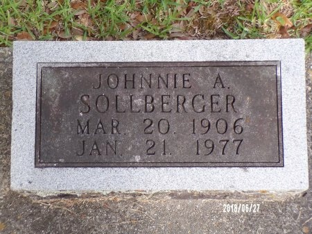 SOLLBERGER, JOHNNIE A - St. Tammany County, Louisiana | JOHNNIE A SOLLBERGER - Louisiana Gravestone Photos