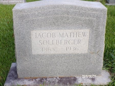 SOLLBERGER, JACOB MATHEW - St. Tammany County, Louisiana | JACOB MATHEW SOLLBERGER - Louisiana Gravestone Photos