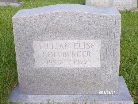 SOLLBERGER, LILLIAN ELISE - St. Tammany County, Louisiana | LILLIAN ELISE SOLLBERGER - Louisiana Gravestone Photos