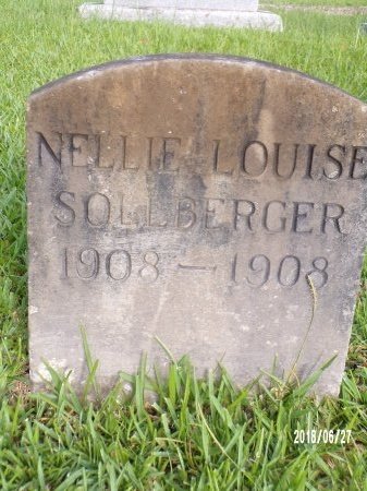 SOLLBERGER, NELLIE LOUISE - St. Tammany County, Louisiana | NELLIE LOUISE SOLLBERGER - Louisiana Gravestone Photos