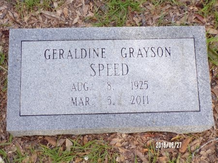 GRAYSON SPEED, GERALDINE BURROWS - St. Tammany County, Louisiana | GERALDINE BURROWS GRAYSON SPEED - Louisiana Gravestone Photos