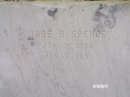SPENCE, JABE BENJAMIN, SR (CLOSE UP) - St. Tammany County, Louisiana   JABE BENJAMIN, SR (CLOSE UP) SPENCE - Louisiana Gravestone Photos