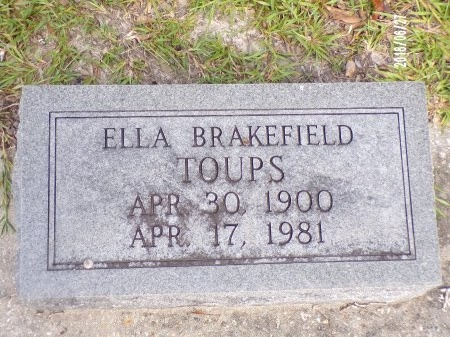 TOUPS, ELLA - St. Tammany County, Louisiana | ELLA TOUPS - Louisiana Gravestone Photos