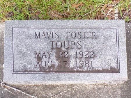 FOSTER TOUPS, MAVIS - St. Tammany County, Louisiana   MAVIS FOSTER TOUPS - Louisiana Gravestone Photos