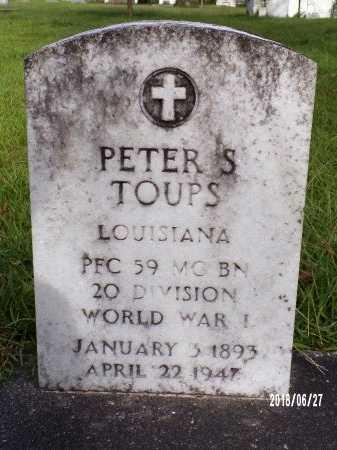 TOUPS  , PETER ST AMANT (VETERAN WWI) - St. Tammany County, Louisiana | PETER ST AMANT (VETERAN WWI) TOUPS   - Louisiana Gravestone Photos