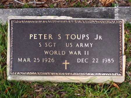TOUPS  , PETER ST AMANT, JR (VETERAN WWII) - St. Tammany County, Louisiana | PETER ST AMANT, JR (VETERAN WWII) TOUPS   - Louisiana Gravestone Photos