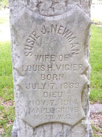 VIGIER, SUSIE J (CLOSE UP) - St. Tammany County, Louisiana | SUSIE J (CLOSE UP) VIGIER - Louisiana Gravestone Photos