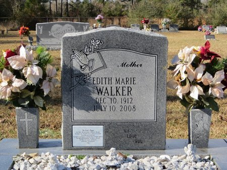 WALKER, EDITH MARIE - St. Tammany County, Louisiana | EDITH MARIE WALKER - Louisiana Gravestone Photos