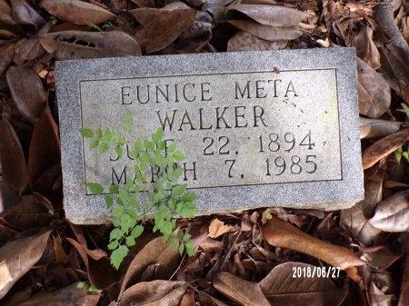 WALKER, EUNICE META - St. Tammany County, Louisiana | EUNICE META WALKER - Louisiana Gravestone Photos