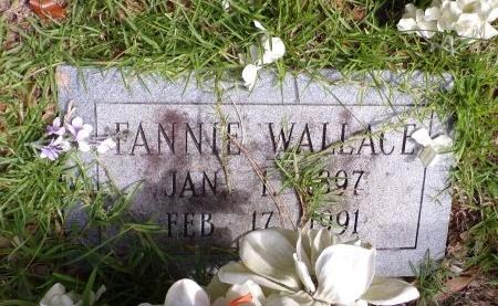 WALLACE, FANNIE - St. Tammany County, Louisiana | FANNIE WALLACE - Louisiana Gravestone Photos