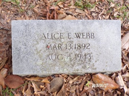 WEBB, ALICE GERTRUDE - St. Tammany County, Louisiana | ALICE GERTRUDE WEBB - Louisiana Gravestone Photos