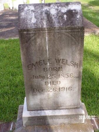 WELSH, EMELE - St. Tammany County, Louisiana | EMELE WELSH - Louisiana Gravestone Photos