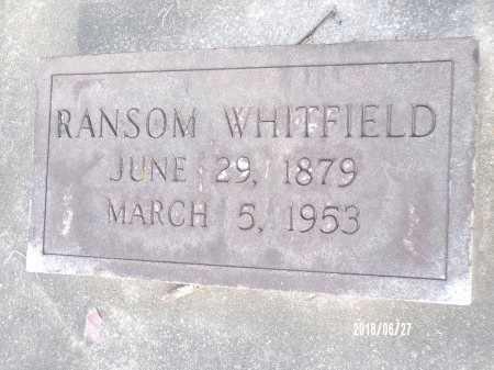 WHITFIELD, RANSOM - St. Tammany County, Louisiana | RANSOM WHITFIELD - Louisiana Gravestone Photos