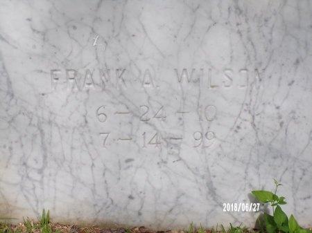 WILSON, FRANK A (CLOSE UP) - St. Tammany County, Louisiana | FRANK A (CLOSE UP) WILSON - Louisiana Gravestone Photos