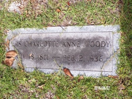 WOODY, CHARLOTTE ANNE - St. Tammany County, Louisiana | CHARLOTTE ANNE WOODY - Louisiana Gravestone Photos