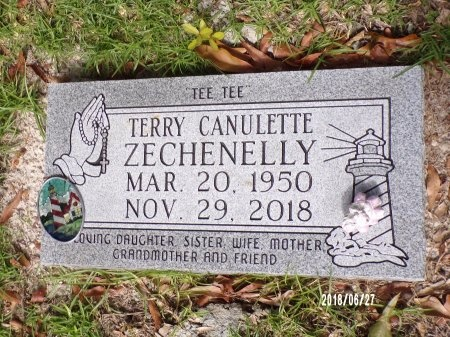 CANULETTE ZECHENELLY, TERRY - St. Tammany County, Louisiana | TERRY CANULETTE ZECHENELLY - Louisiana Gravestone Photos