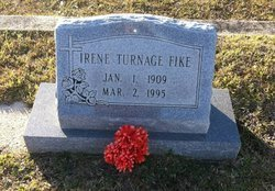 TURNAGE FIKE, IRENE - Tangipahoa County, Louisiana | IRENE TURNAGE FIKE - Louisiana Gravestone Photos