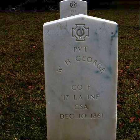 GEORGE, W H (VETERAN CSA) - Tangipahoa County, Louisiana   W H (VETERAN CSA) GEORGE - Louisiana Gravestone Photos