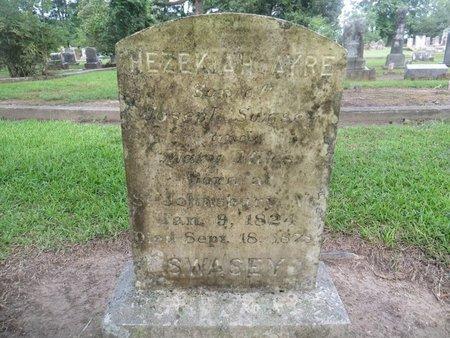 SWASEY, HEZEKIAH AYRE - Tangipahoa County, Louisiana | HEZEKIAH AYRE SWASEY - Louisiana Gravestone Photos