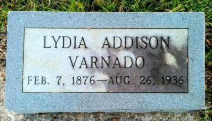 ADDISON VARNADO, LYDIA - Tangipahoa County, Louisiana | LYDIA ADDISON VARNADO - Louisiana Gravestone Photos