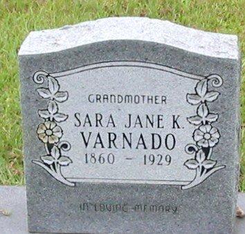 VARNADO, SARA JANE - Tangipahoa County, Louisiana | SARA JANE VARNADO - Louisiana Gravestone Photos