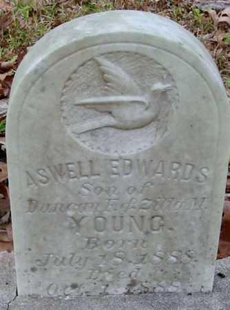 YOUNG, ASWELL EDWARDS - Tangipahoa County, Louisiana   ASWELL EDWARDS YOUNG - Louisiana Gravestone Photos