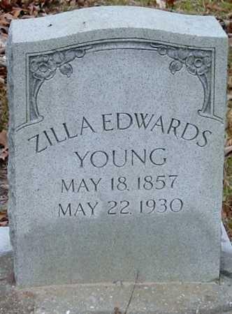 EDWARDS YOUNG, ZILLA - Tangipahoa County, Louisiana | ZILLA EDWARDS YOUNG - Louisiana Gravestone Photos