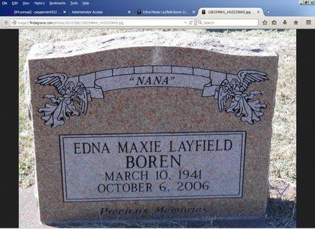 LAYFIELD BOREN, EDNA MAXIE - Tensas County, Louisiana | EDNA MAXIE LAYFIELD BOREN - Louisiana Gravestone Photos